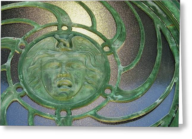 Medusa Window Greeting Cards - Medusa Greeting Card by William Walker