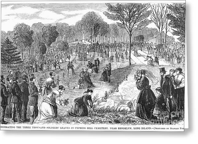 Decoration Day Greeting Cards - Memorial Day, 1868 Greeting Card by Granger