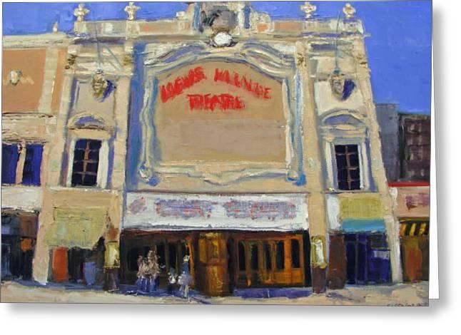 Movie Theatre Greeting Cards - Memories Loews Paradise Bronx Greeting Card by Gail Eisenfeld