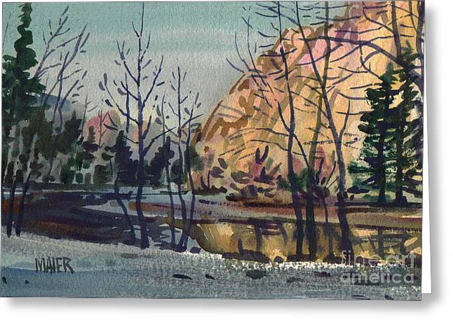 Merced River Greeting Cards - Merced River in Winter Greeting Card by Donald Maier