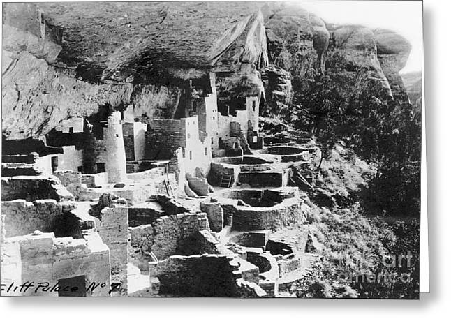 Early American Dwellings Greeting Cards - Mesa Verde: Cliff Palace Greeting Card by Granger