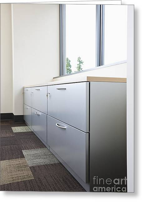 Metal Drawers And Shelf Greeting Card by Jetta Productions, Inc