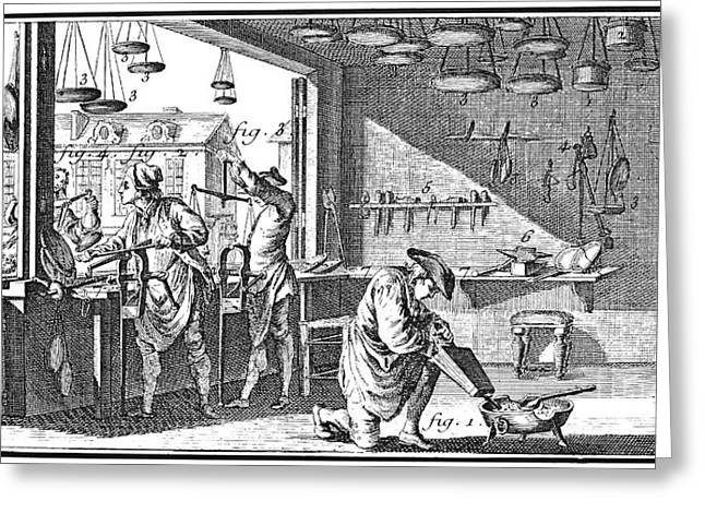 Metalworker Greeting Cards - METALWORKER, 18th CENTURY Greeting Card by Granger