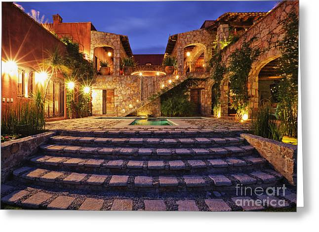 Stepping Stones Greeting Cards - Mexican Ranch House Greeting Card by Jeremy Woodhouse