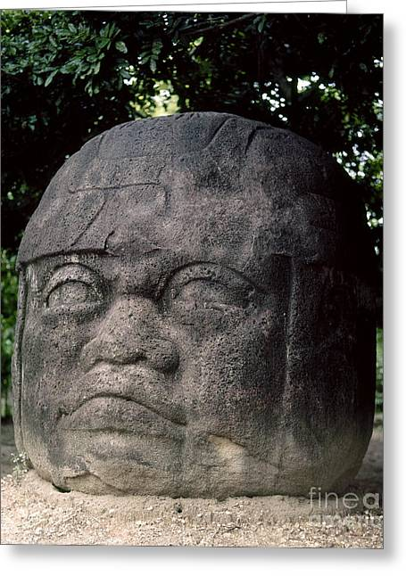Mexico: Olmec Head Greeting Card by Granger