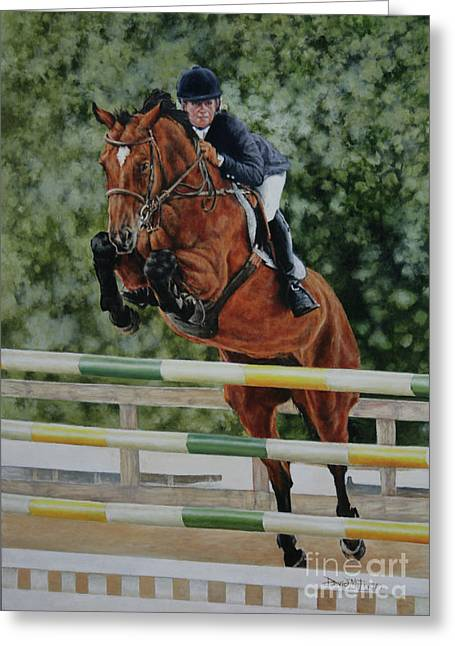 Showjumping Greeting Cards - Mia Greeting Card by David McEwen