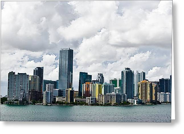 Miami Greeting Card by Nelson Rodriguez