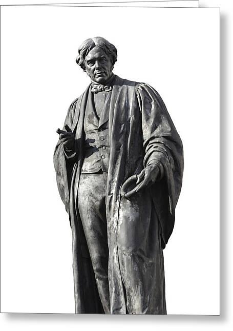 Statue Portrait Greeting Cards - Michael Faraday, British Physicist Greeting Card by Martin Bond