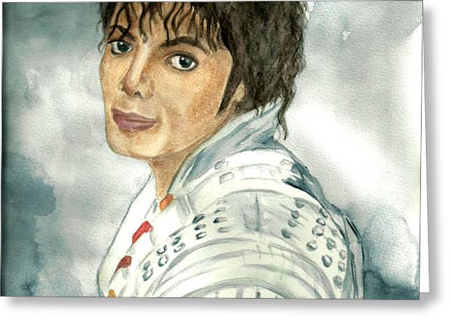 Michael Jackson - Captain Eo Greeting Card by Nicole Wang