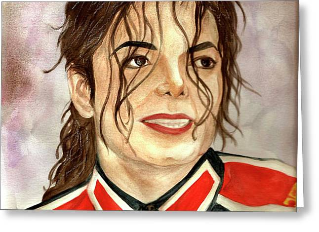 Michael Jackson - You Are My Life Greeting Card by Nicole Wang