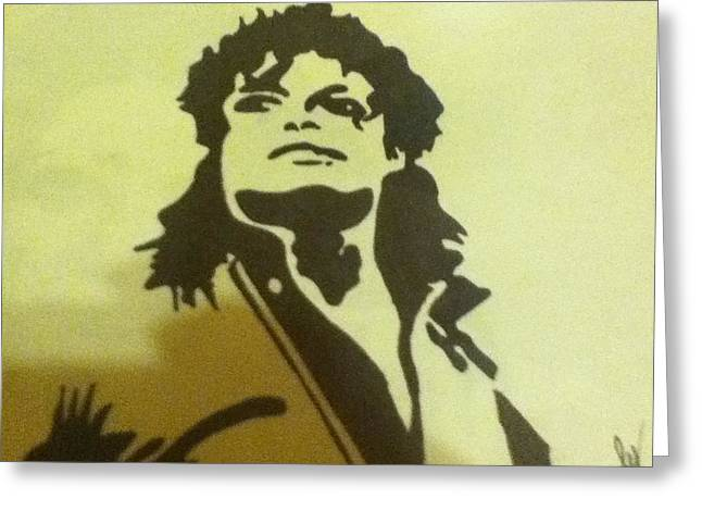 Mj Drawings Greeting Cards - Michael Jackson Greeting Card by Damian Howell