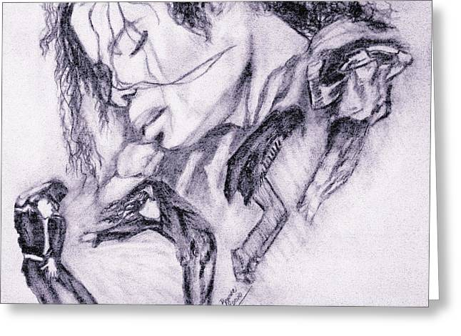 Recently Sold -  - Mj Drawings Greeting Cards - Michael Jackson Dance Greeting Card by Regina Brandt