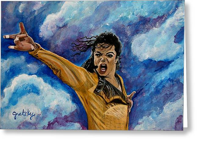 Michael Jackson Greeting Card by Paintings by Gretzky