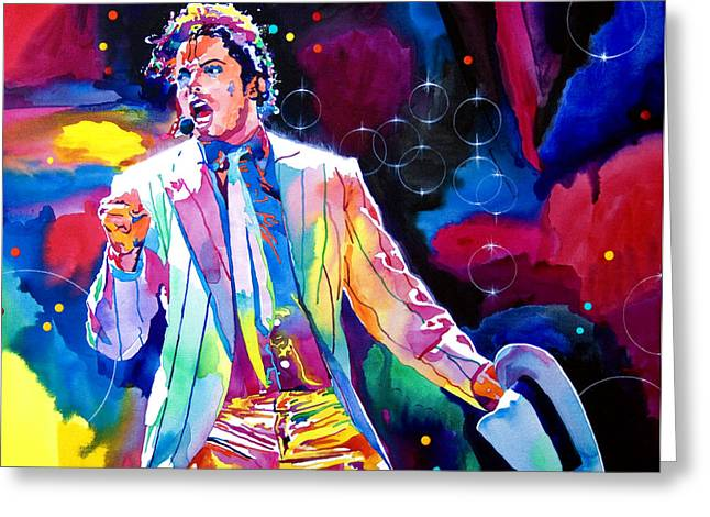 Smooth Criminal Greeting Cards - Michael Jackson Smooth Criminal Greeting Card by David Lloyd Glover