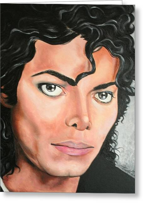 Portraits By Timothe Greeting Cards - Michael Jackson Greeting Card by Timothe Winstead
