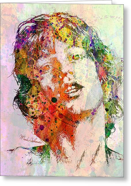 Modern Digital Art Digital Art Greeting Cards - Mick Jagger Greeting Card by Mark Ashkenazi