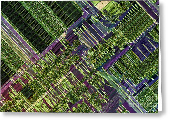 Microprocessor Greeting Cards - Microprocessor Greeting Card by Michael W. Davidson