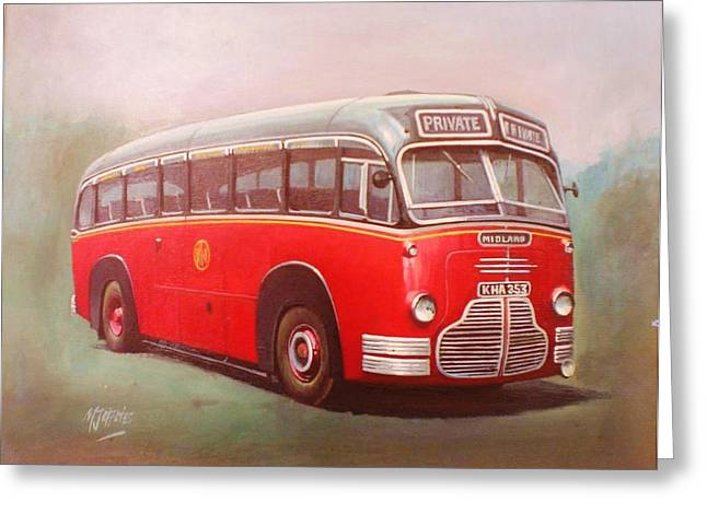 Coach Greeting Cards - Midland Red C1 Greeting Card by Mike  Jeffries