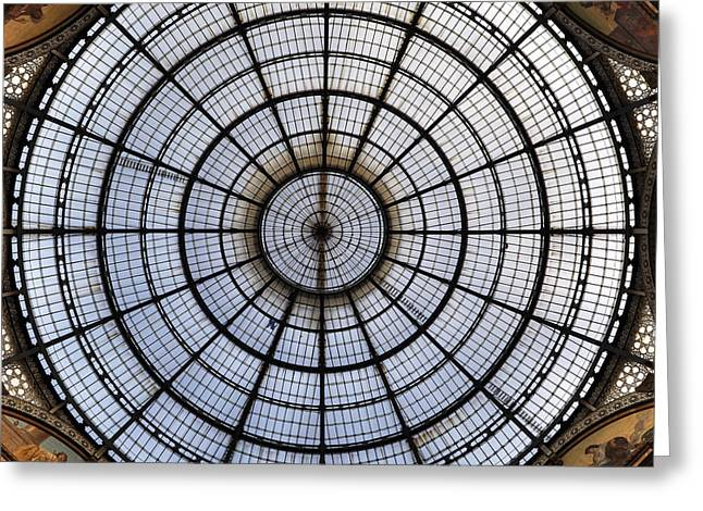 Glass Wall Greeting Cards - Milan Galleria Vittorio Emanuele II Greeting Card by Joana Kruse