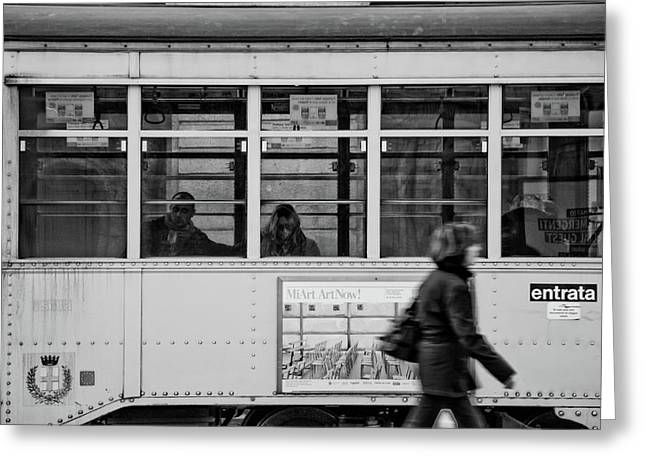 Milano Greeting Cards - Milanos tram Greeting Card by Andrea Barbieri