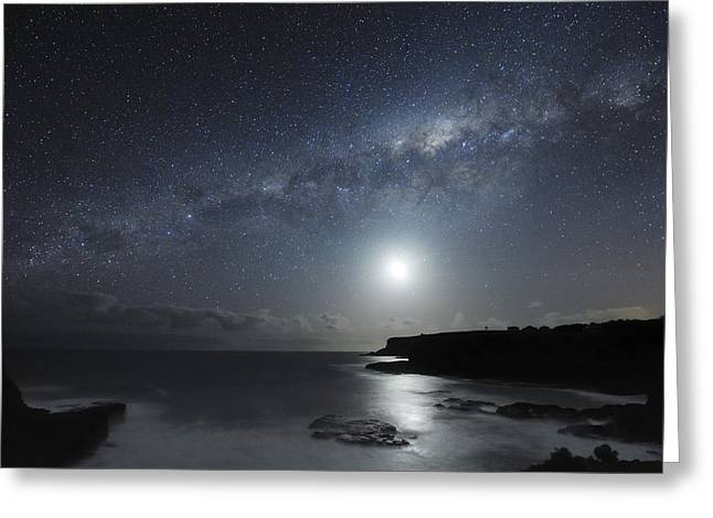 Milky Way Over Mornington Peninsula Greeting Card by Alex Cherney, Terrastro.com