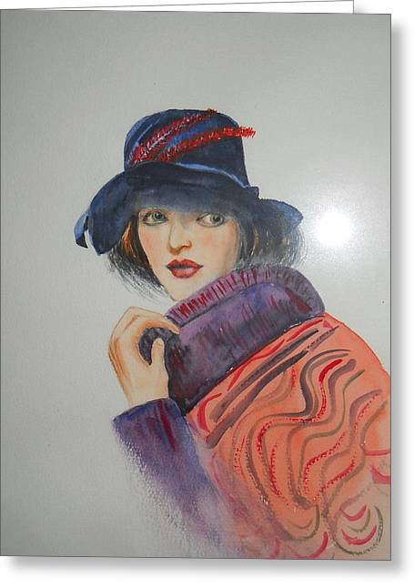 Portraits Ceramics Greeting Cards - Millie Greeting Card by Stanley Rushton