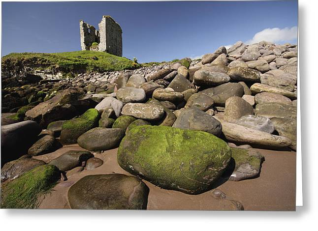Minard Castle And Rocky Beach Minard Greeting Card by Trish Punch