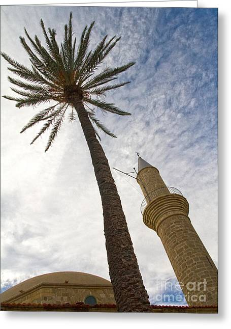 Minaret Greeting Card by Stelios Kleanthous