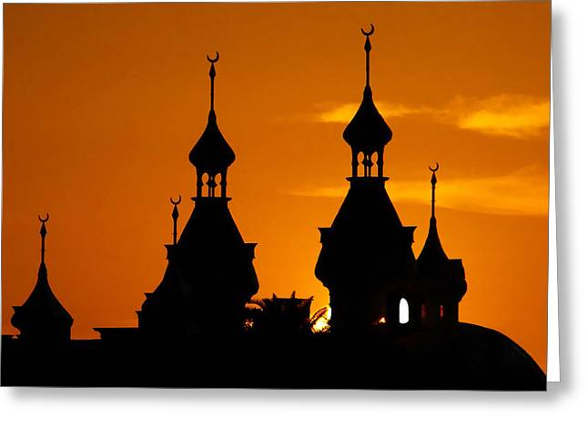 Tampa Bay Florida Greeting Cards - Minarets over Tampa Greeting Card by David Lee Thompson