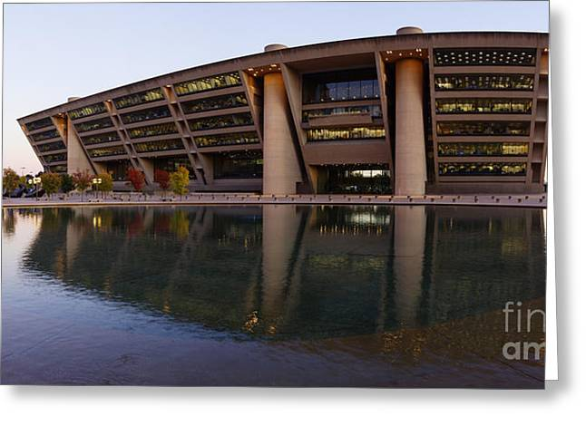 Man Made Abstract Greeting Cards - Modern Building Greeting Card by Jeremy Woodhouse