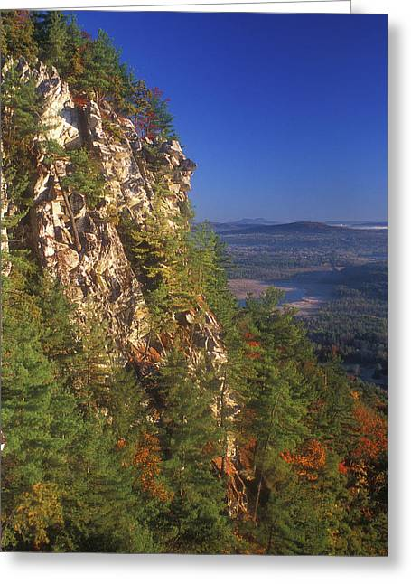 Housatonic River Greeting Cards - Monument Mountain Cliffs Greeting Card by John Burk