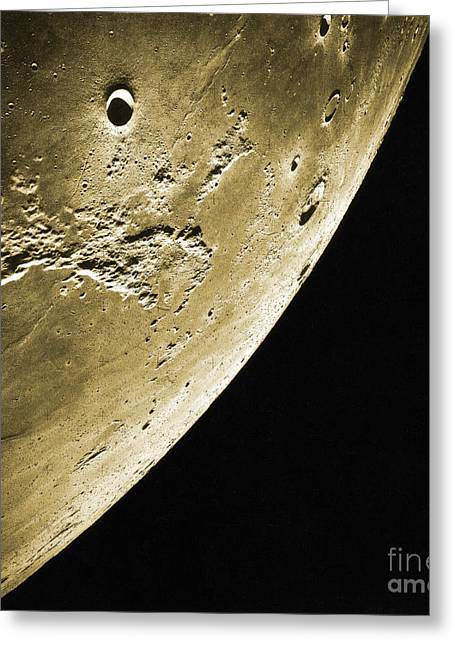 Color Enhanced Greeting Cards - Moon, Apollo 16 Mission Greeting Card by Science Source