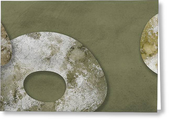 Abstract Digital Mixed Media Greeting Cards - Moon stones Greeting Card by Nomi Elboim