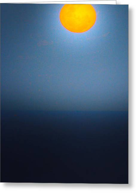 Joanne Kocwin Greeting Cards - Moonish Greeting Card by Joanne Kocwin
