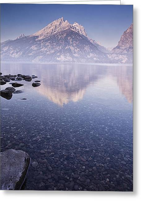 Mountains Greeting Cards - Morning Calm Greeting Card by Andrew Soundarajan