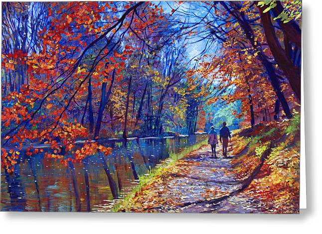 Autumn Landscape Paintings Greeting Cards - Morning Glory Greeting Card by David Lloyd Glover