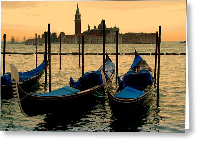 Morning In Venice Greeting Card by Barbara Walsh