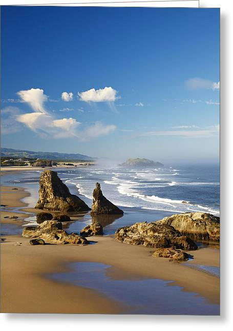 Morning Light Adds Beauty To Rock Greeting Card by Craig Tuttle