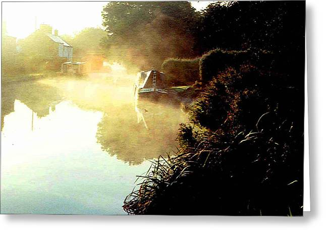 Northamptonshire Greeting Cards - Morning Mist Greeting Card by Mindy Newman