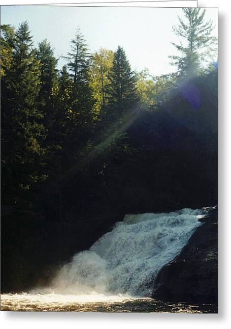 Stacy Bottoms Greeting Cards - Morning Waterfall Greeting Card by Stacy C Bottoms