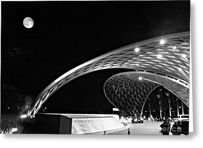 Morongo Moon Greeting Card by Kevin Moore