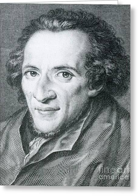 Theological Art Greeting Cards - Moses Mendelssohn, German Philosopher Greeting Card by Photo Researchers