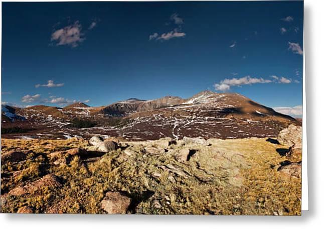 Mount Bierstadt Panorama Greeting Card by Richard Steinberger