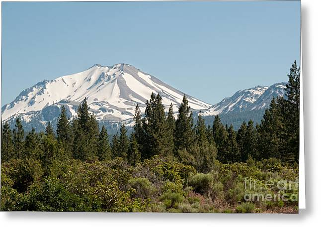 Snow Capped Greeting Cards - Mount Lassen Greeting Card by Carol Ailles
