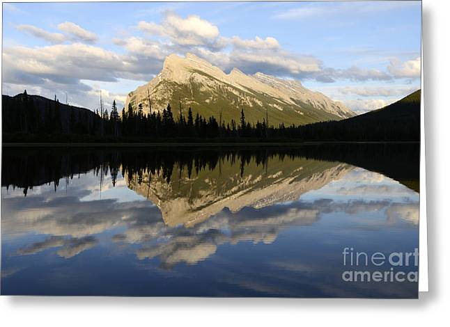 Vermillion Greeting Cards - Mount Rundle Banff Greeting Card by Bob Christopher
