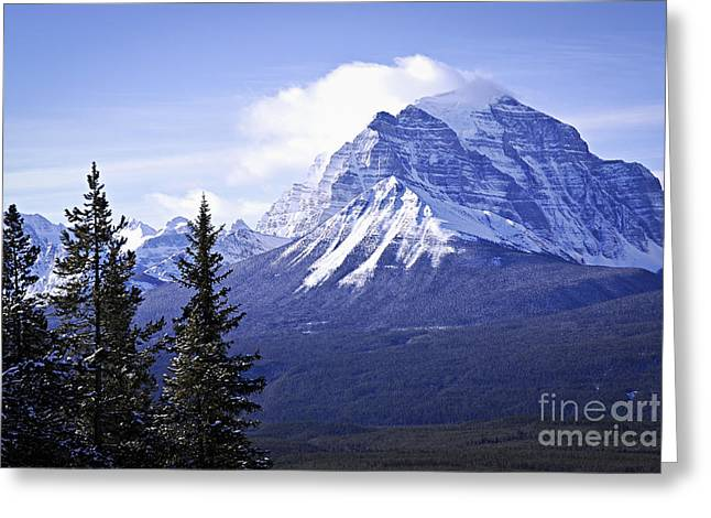 Sky High Greeting Cards - Mountain landscape Greeting Card by Elena Elisseeva
