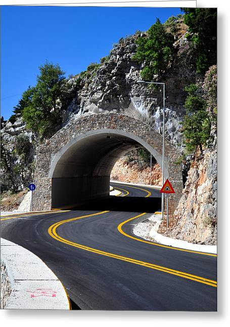 Mountain Road Greeting Cards - Mountain tunnel. Greeting Card by Fernando Barozza