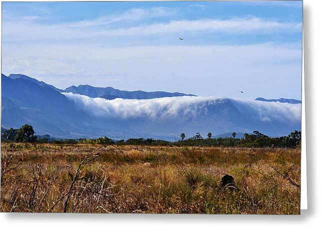 Mountains in clouds Greeting Card by Werner Lehmann
