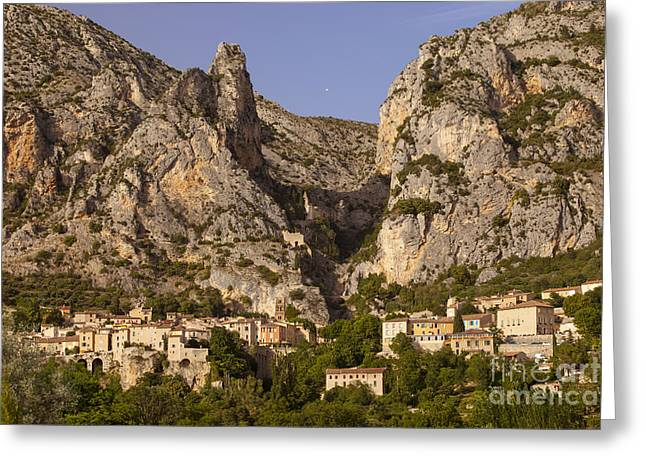 Provence Village Greeting Cards - Moustier-Sainte-Marie Greeting Card by Brian Jannsen