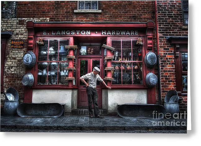 Hardware Greeting Cards - Mr Langstons Hardware Shop Greeting Card by Yhun Suarez